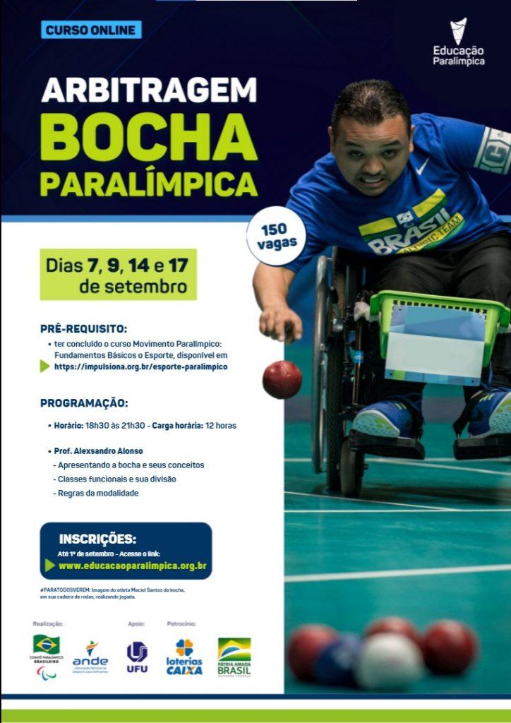 Curso online de arbitragem de bocha paralímpica